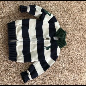 Ralph Lauren Zip Up sweater 18 months